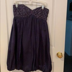 Blue cocktail homecoming dress